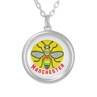 Manchester Bee Silver Plated Necklace