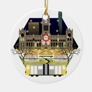 Manchester Christmas Markets Ceramic Ornament