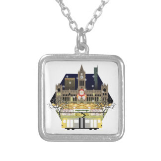 Manchester Christmas Markets Silver Plated Necklace