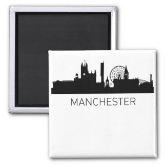 Manchester England Cityscape Magnet