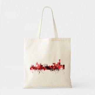 Manchester England Skyline Tote Bag