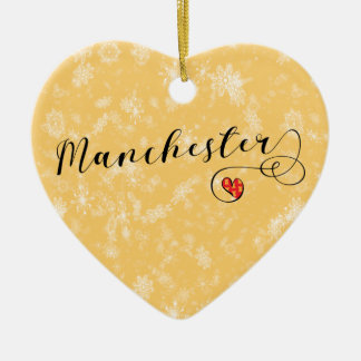 Manchester Heart, Christmas Tree Ornament