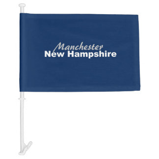 Manchester, New Hampshire Car Flag