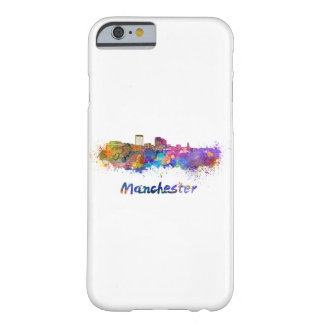 Manchester NH skyline in watercolor Barely There iPhone 6 Case