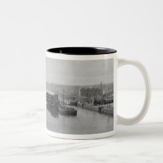 Manchester Ship Canal, c.1910 Two-Tone Coffee Mug