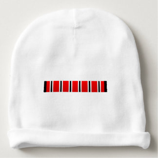 Manchester sporting red white and black bar scarf baby beanie