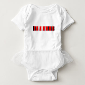 Manchester sporting red white and black bar scarf baby bodysuit