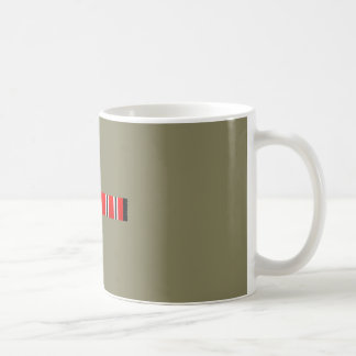 Manchester sporting red white and black bar scarf coffee mug