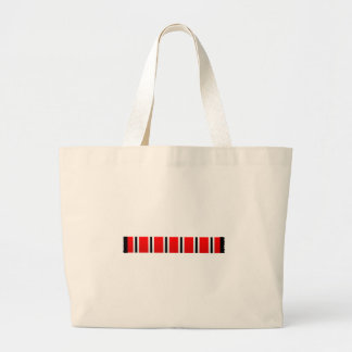 Manchester sporting red white and black bar scarf large tote bag