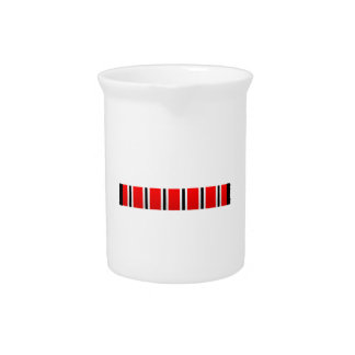 Manchester sporting red white and black bar scarf pitcher