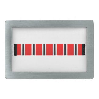 Manchester sporting red white and black bar scarf rectangular belt buckle