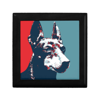 Manchester Terrier Hope Parody Political Poster Small Square Gift Box