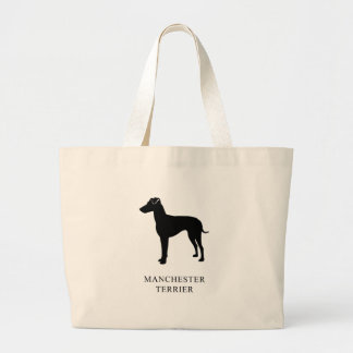 Manchester Terrier Large Tote Bag