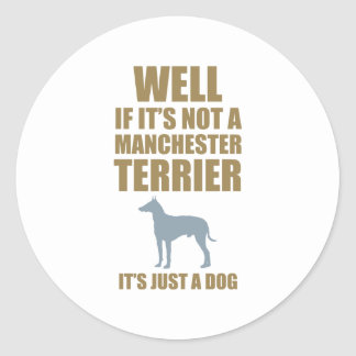 Manchester Terrier Round Sticker