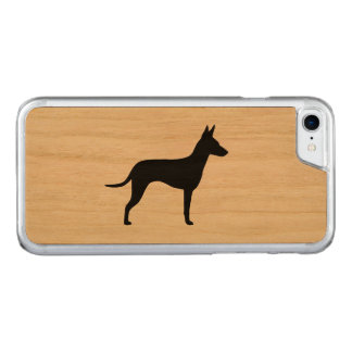 Manchester Terrier Silhouette Carved iPhone 8/7 Case