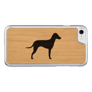 Manchester Terrier Silhouette - Natural Ears Carved iPhone 8/7 Case