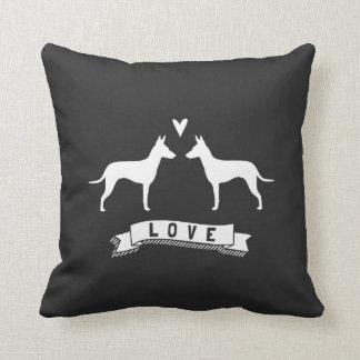 Manchester Terrier Silhouettes Love Cushion