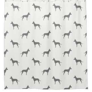 Manchester Terrier Silhouettes Pattern Shower Curtain