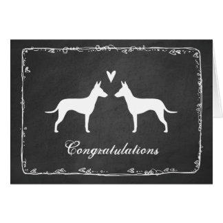 Manchester Terrier Silhouettes Wedding Congrats Card