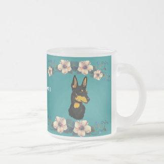 Manchester Terrier - Turquoise Floral Design Mug