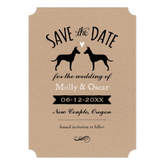 Manchester Terriers Wedding Save the Date Card