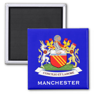 Manchester*, U.K. Coat of Arms Magnet