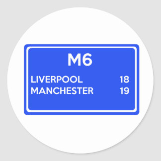 Manchester Versus Liverpool - Football Related Round Sticker