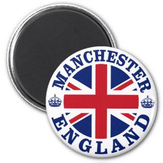 Manchester Vintage UK Design 6 Cm Round Magnet