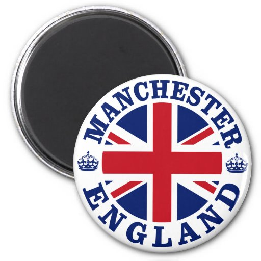 Manchester Vintage UK Design Refrigerator Magnets