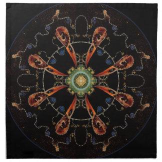 Mandala - 0013 - The Raven and the Sea and Stars P Napkin