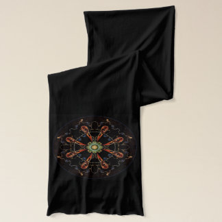 Mandala - 0013 - The Raven and the Sea and Stars P Scarf