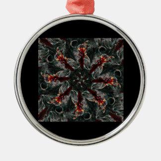 Mandala - 0026 - Many Hearted Core B Metal Ornament
