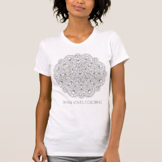 Mandala 010617 Adult Colouring Fashion Add A Name T-Shirt