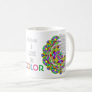 Mandala 010617 Adult Colouring I Love To Colour Coffee Mug