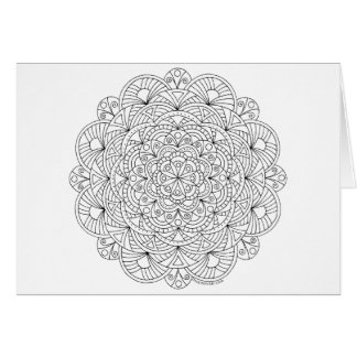 Mandala 010617 Adult Colouring Pattern Thank You Card