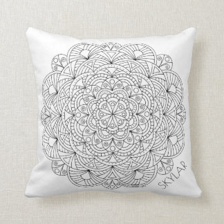 Mandala 010617 Colour This Monogram Reversible Cushion