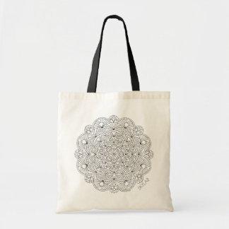 Mandala 010617 Personalize This Adult Coloring Tote Bag
