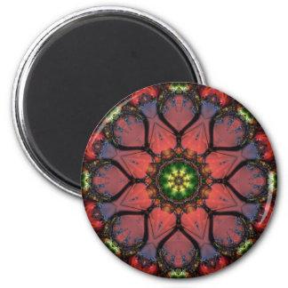 Mandala 205 Fridge Magnet 2 Inch Round Magnet