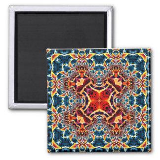 Mandala 221 Fridge Magnet 2 Inch Square Magnet