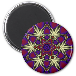 Mandala 2 6 cm round magnet