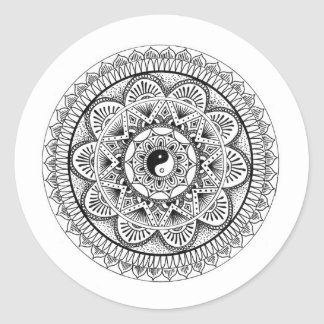 Mandala (3) round sticker