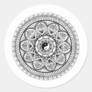 Mandala (3) round sticker