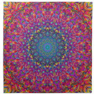Mandala 7 Color Version A Napkin