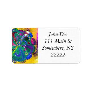 Mandala Abstract Address Label