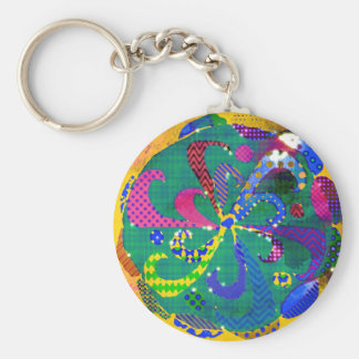 Mandala Abstract Key Ring