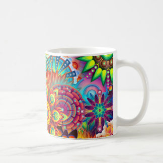 Mandala Abstract Spiritual Psychedelic Trippy Coffee Mug