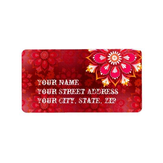 Mandala Address Labels