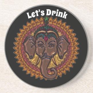 Mandala Adorable Elephant Metallizer Coaster