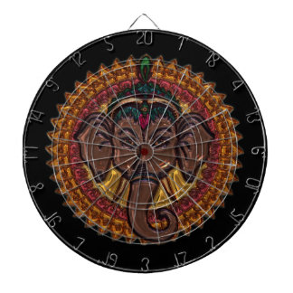 Mandala Adorable Elephant Metallizer Dartboard