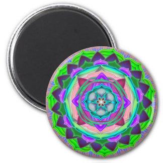 Mandala Art 6 Cm Round Magnet